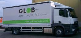 LKW-Beschriftung für Glob Spedlogistics GmbH aus Stuttgart