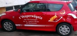 Fahrzeugfolierung für s'Vesperwägele in Esslingen