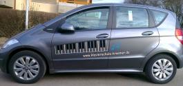 Fahrzeugbeschriftung für Klavierschule in Filderstadt