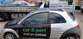 Folienbeschriftung in Plottbuchstaben für car-X-pert aus Waiblingen