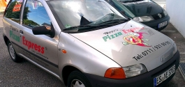 Fuhrparkbeschriftung für Pippo's Pizza Express aus Esslingen