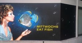 Schaufensterbeschriftung für Cavos Taverna in Stuttgart