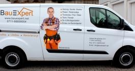 Fahrzeugbeschriftung im Digitaldruck für Bauexpert GmbH aus Leonberg
