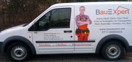 Folienbeschriftung für Bauexpert GmbH aus Leonberg