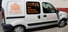 Folienbeschriftung für BDH Projekt in Stuttgart