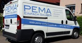 Nutzfahrzeugbeschriftung für die Firma PEMA aus Esslingen