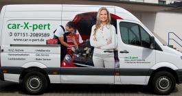 Fahrzeugbeschruftung im Digitaldruck für car-X-pert aus Waiblingen