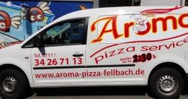 Fahrzeugverklebung für Aroma Pizzaservice in Stuttgart