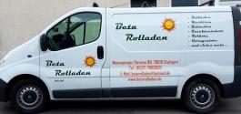 KFZ-Beschriftung für die Firma Beta Rolladen in Stuttgart