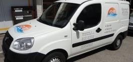 Lieferwagen-Beschriftung für GuT Sanitär und Heizung in Esslingen