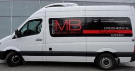 Transporterbeschriftung für MB Museumsgastronomie GmbH in Stuttgart