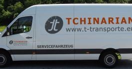 Transporterbeschriftung für Tchinarian Transporte GmbH aus Ludwigsburg