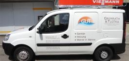 Werbebeschriftung für GUT Sanitär in Esslingen