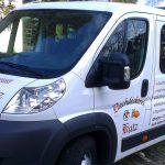 Transporter Folienverklebung für Dachdeckerei Katz in Stuttgart