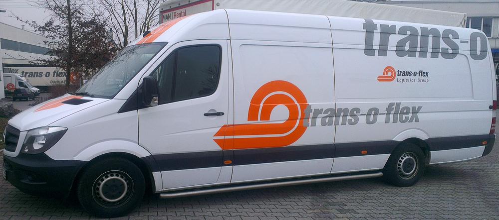 Transporterbeschriftung für Trans-o-flex in Ludwigsburg