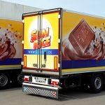 Kühlauflieger-Vollverklebung für Rübezahl Schokoladen GmbH in Dettingen