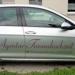 Autobeschriftung für die Agentur Traumhochzeit in Esslingen