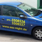 Fahrzeugbeklebung für Ess-Night Pizzaservice in Esslingen