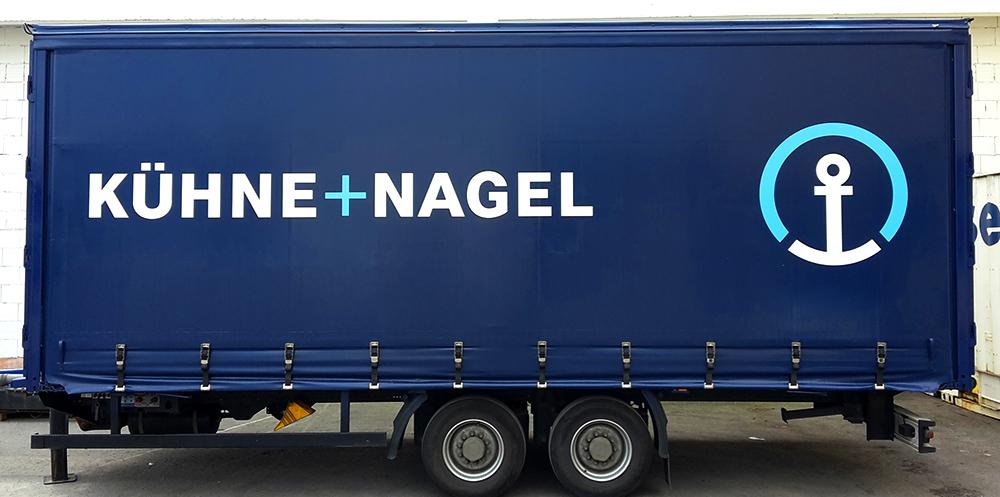 LKW-Planendruck für Kühne+Nagel in Stuttgart
